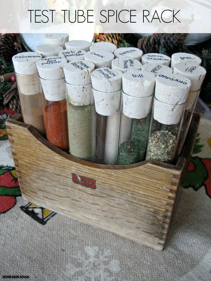 diy test tube spice rack dream book design. Black Bedroom Furniture Sets. Home Design Ideas