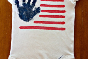 DIY 4th Of July Flag Shirt