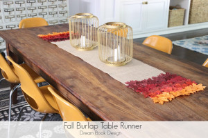 Fall Burlap Table Runner {No-sew!}