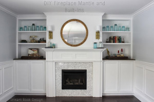Fireplace Mantle And Built-Ins Reveal