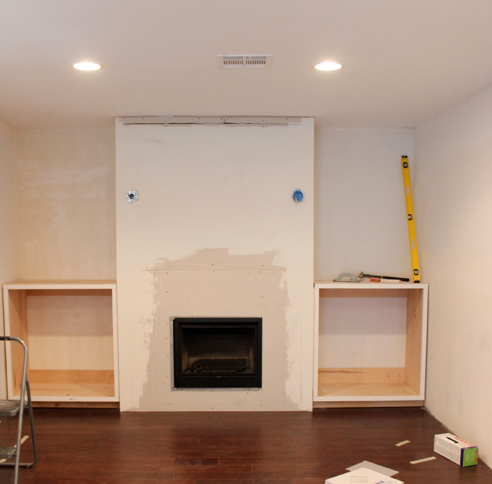 Fireplace Cabinets: Built In Fireplace And Cabinets Tutorial