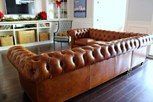 Our New Leather Chesterfield Sectional Sofa!