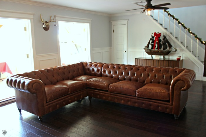 leather chesterfield sectional