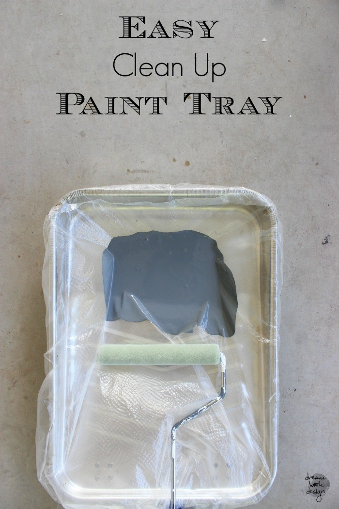 easy clean up paint tray