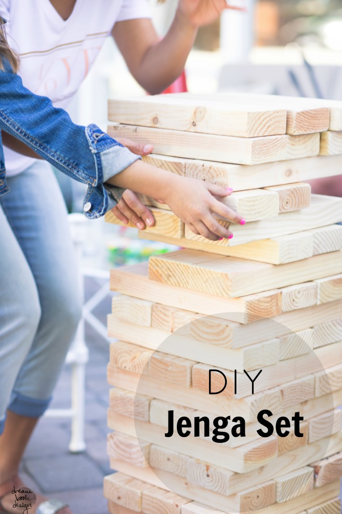 How to DIY a Large Jenga Game - Dream Book Design