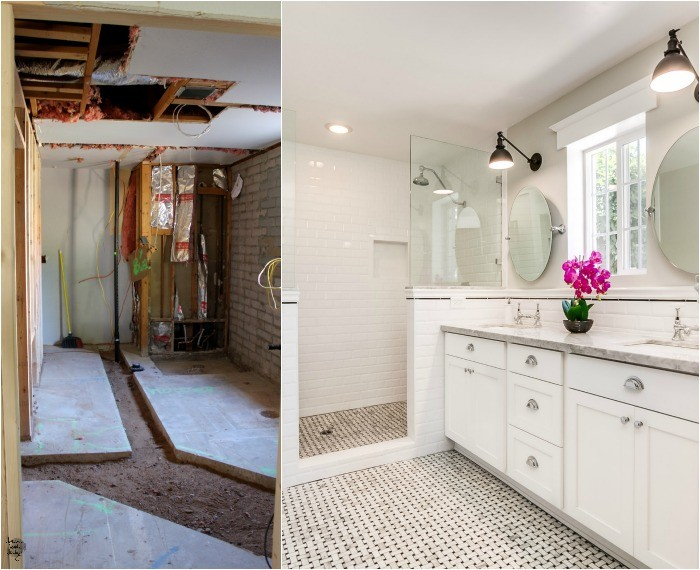 slump block ranch master bathroom b+a