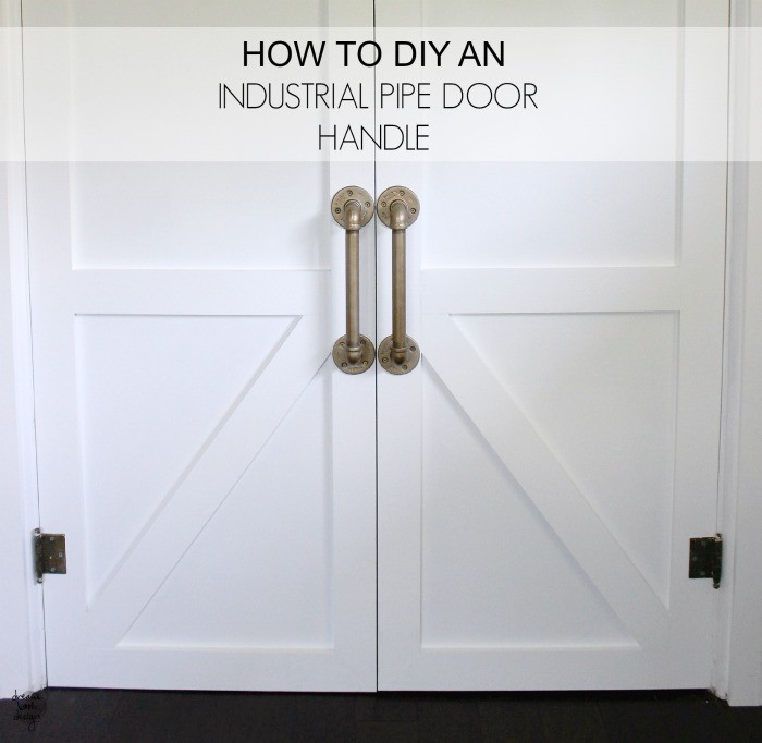 DIY industrial pipe door handle