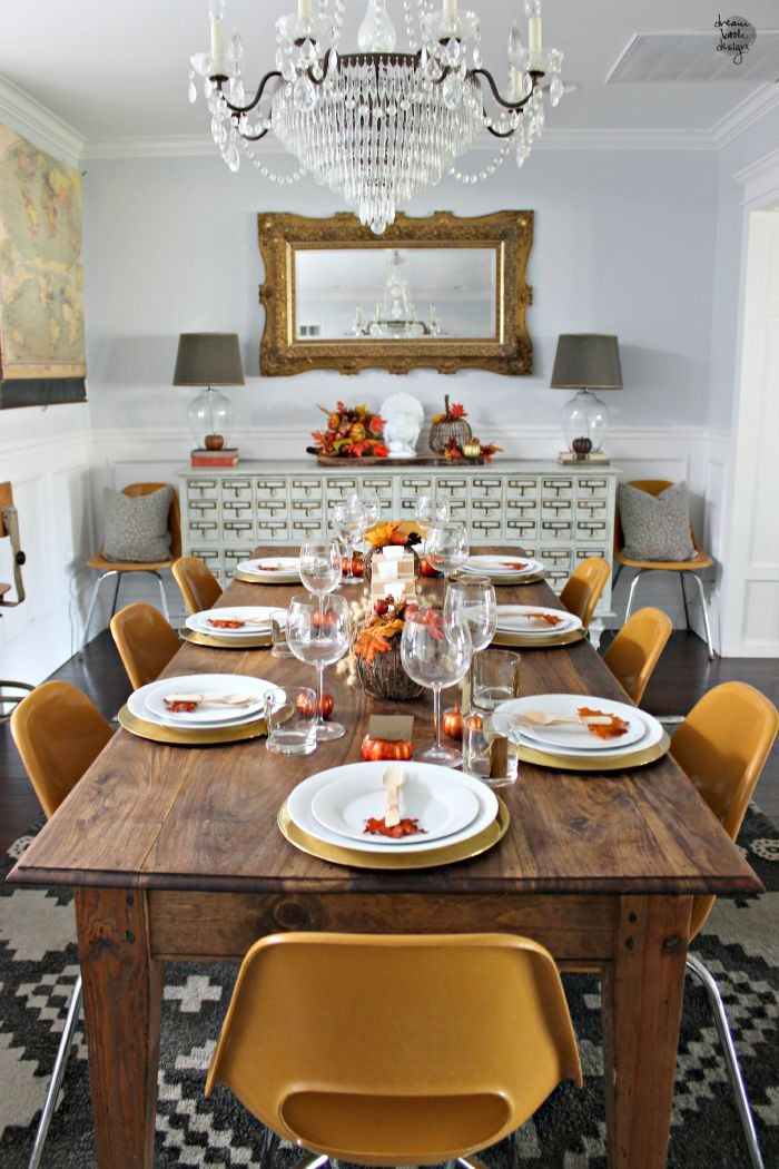 fall dining room decor / dreambookdesign.com