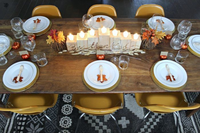 thanksgiving tablescape / dreambookdesign.com