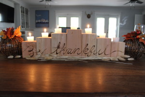 DIY Wooden Candle Holder Centerpiece