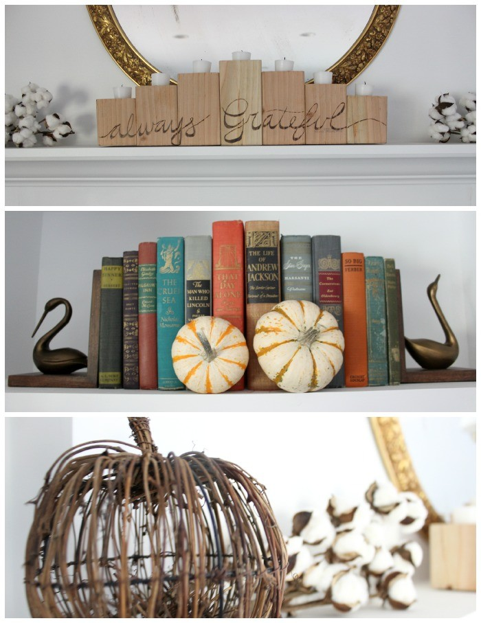 fall mantel decorations  dreambookdesign.com
