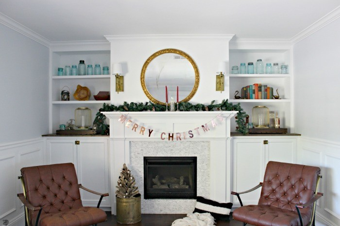 christmas fireplace mantel decorations dreambookdesign.com