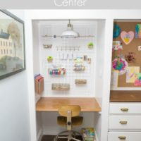 kids diy pegboard art center