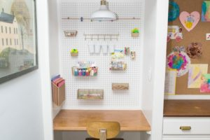 DIY Kids Pegboard Art Center