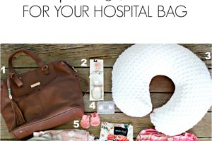 8 Must Haves For Your Hospital Bag: Baby Edition
